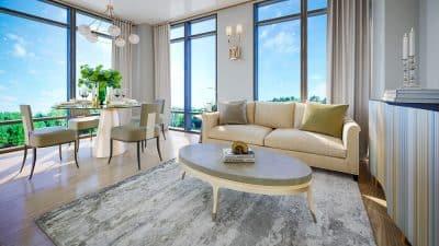 ORO Condos @ 24 Elm Dr W Mississauga square one condos Square One Condos | Home ORO 2 Bdrm Livingroom 400x225